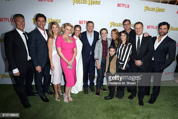 Writer/Producer Jeff Franklin John Stamos Lori Loughlin Jodie Sweetin Andrea Barber Chief Content Officer of Netflix Ted Sarandos Michael Campion...