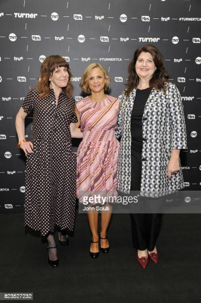 Writer/producer Jodi Lennon Creator/actor Amy Sedaris and producer Cindy Caponera of 'At Home With Amy Sedaris' at the TCA Turner Summer Press Tour...