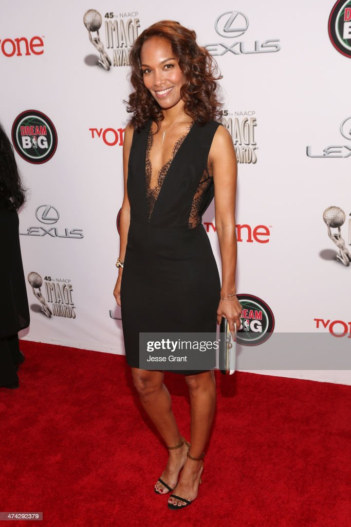 Writer/producer <a gi-track='captionPersonalityLinkClicked' href=/galleries/search?phrase=Mara+Brock+Akil&family=editorial&specificpeople=879949 ng-click='$event.stopPropagation()'>Mara Brock Akil</a> attends the 45th NAACP Image Awards presented by TV One at Pasadena Civic Auditorium on February 22, 2014 in Pasadena, California.