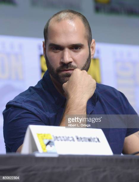 Writer/producer Marco Ramirez speaks onstage at Netflix's 'The Defenders' panel during ComicCon International 2017 at San Diego Convention Center on...