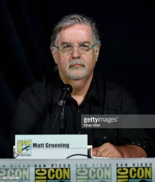 Writer/producer Matt Groening attends FOX's 'The Simpsons' panel during ComicCon International 2014 at the San Diego Convention Center on July 26...