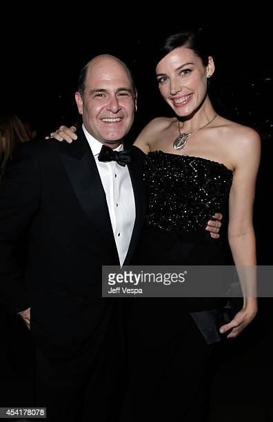 Writer/producer Matthew Weiner and actress Jessica Pare attend the 66th Annual Primetime Emmy Awards Governors Ball held at Los Angeles Convention...