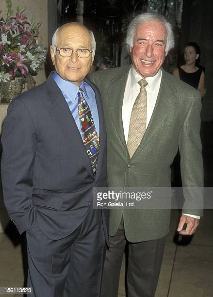 Writer/Producer Norman Lear and Director Bud Yorkin attend the Sixth Annual Women in Film Lucy Awards on September 17 1999 at Beverly Hilton Hotel in...
