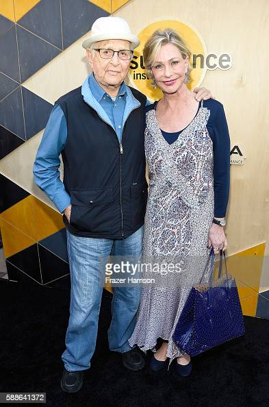 Writer/producer Norman Lear and Lyn Lear attend the Sundance Institute NIGHT BEFORE NEXT Benefit at The Theatre at The Ace Hotel on August 11 2016 in...