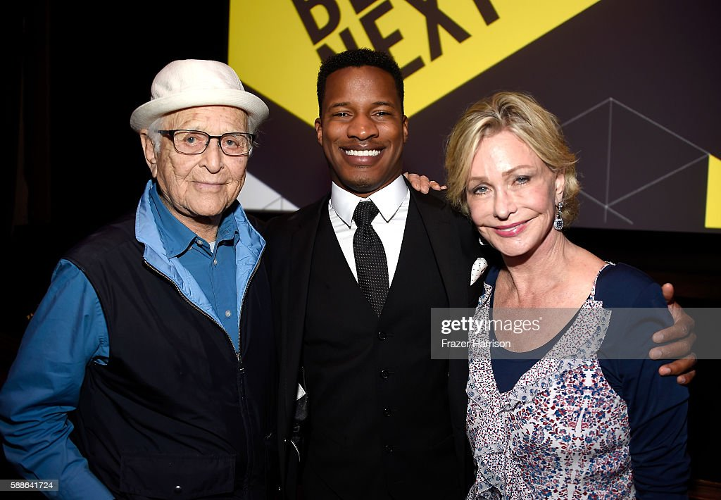 Writer/producer Norman Lear Vanguard Award recipient Nate Parker and Lyn Lear attend the Sundance Institute NIGHT BEFORE NEXT Benefit at The Theatre...