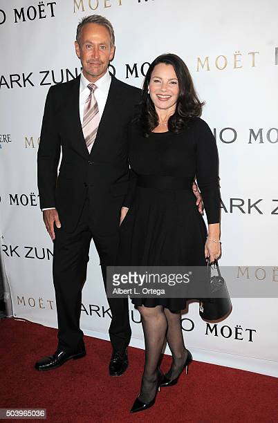 Writer/producer Peter Marc Jacobson and actress Fran Drescher arrives for the Mark Zunino Atelier Opening held at Mark Zunino Atelier on January 7...