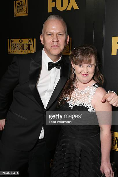 Writer/producer Ryan Murphy and actress Jamie Brewer attend FOX Golden Globe Awards Party 2016 sponsored by American Airlines at The Beverly Hilton...