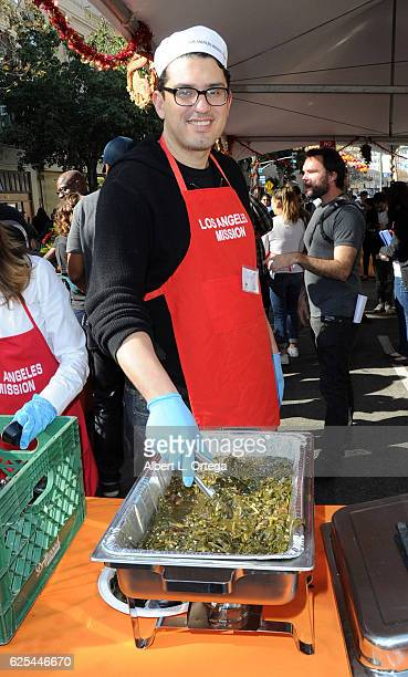 Writer/producer Sam Esmail at the Los Angeles Mission Thanksgiving Meal For The Homeless held at Los Angeles Mission on November 23 2016 in Los...