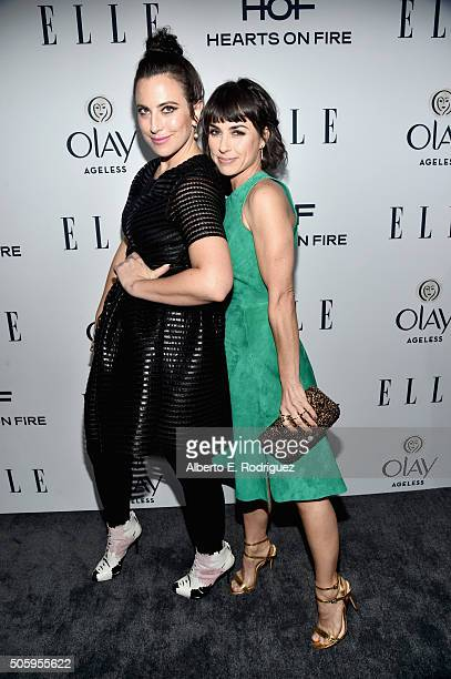Writer/producer Sarah Gertrude Shapiro and actress Constance Zimmer attend ELLE's 6th Annual Women In Television Dinner at Sunset Tower Hotel on...