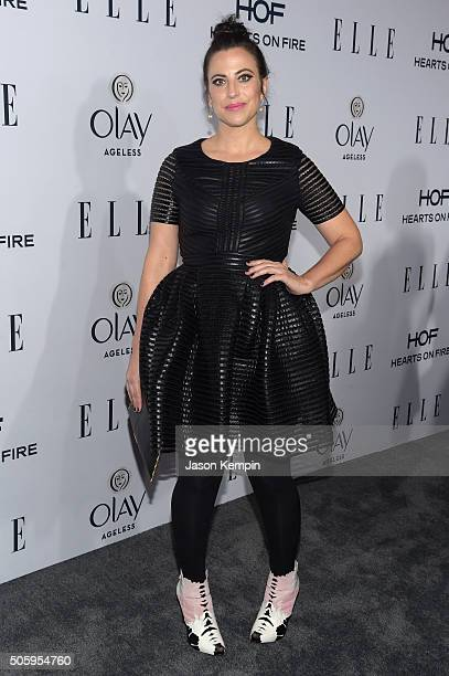 Writer/producer Sarah Gertrude Shapiro attends ELLE's 6th Annual Women In Television Dinner at Sunset Tower Hotel on January 20 2016 in West...