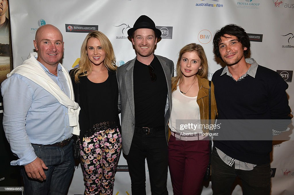 Writer/producer Scott Didier, actress Anna Hutchison, writer/director Richard Gray, actress Rose McIver and actor Bob Morley attend Australians In Film's screening of Revival Film Company's 'Blinder' at Los Angeles Film School on April 17, 2013 in Los Angeles, California.