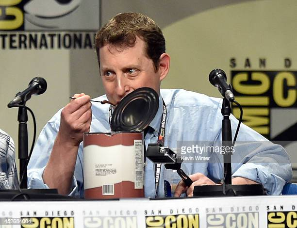 Writer/producer Scott M Gimple attends AMC's 'The Walking Dead' panel during ComicCon International 2014 at San Diego Convention Center on July 25...