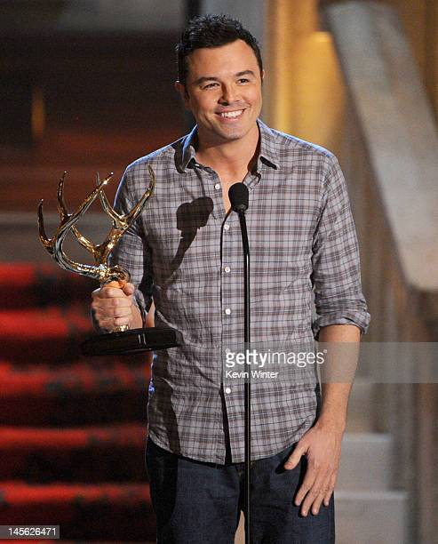 Writer/producer Seth MacFarlane accepts the award for Funniest MF onstage during Spike TV's 6th Annual 'Guys Choice Awards' at Sony Pictures Studios...