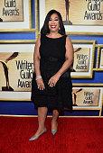 Writer/producer Shonda Rhimes attends the 2015 Writers Guild Awards LA Ceremony at the Hyatt Regency Century Plaza on February 14 2015 in Century...