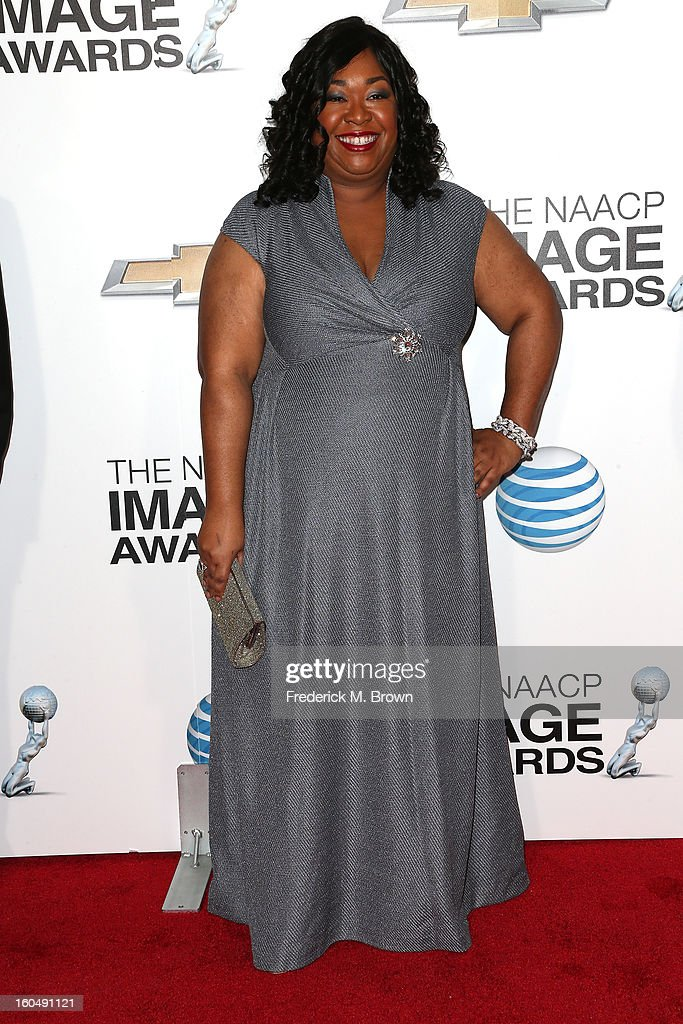 Writer/producer Shonda Rhimes attends the 44th NAACP Image Awards at The Shrine Auditorium on February 1, 2013 in Los Angeles, California.