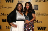 Writer/producer Shonda Rhimes with actress Kerry Washington Lucy Award for Excellence in Television recipient attend Women In Film 2014 Crystal Lucy...