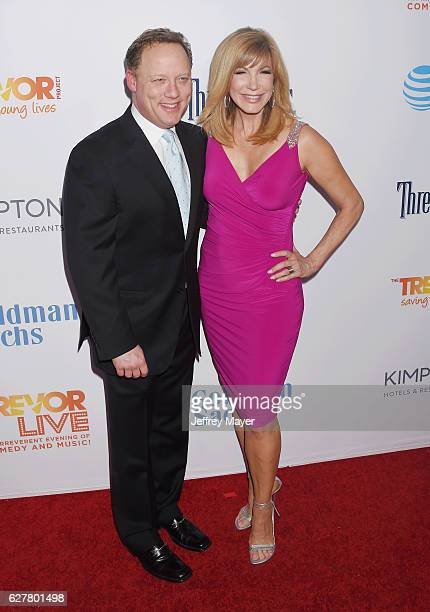 Writer/producer Steve Fenton and TV personality Leeza Gibbons attend the TrevorLIVE Los Angeles 2016 Fundraiser at the Beverly Hilton Hotel on...