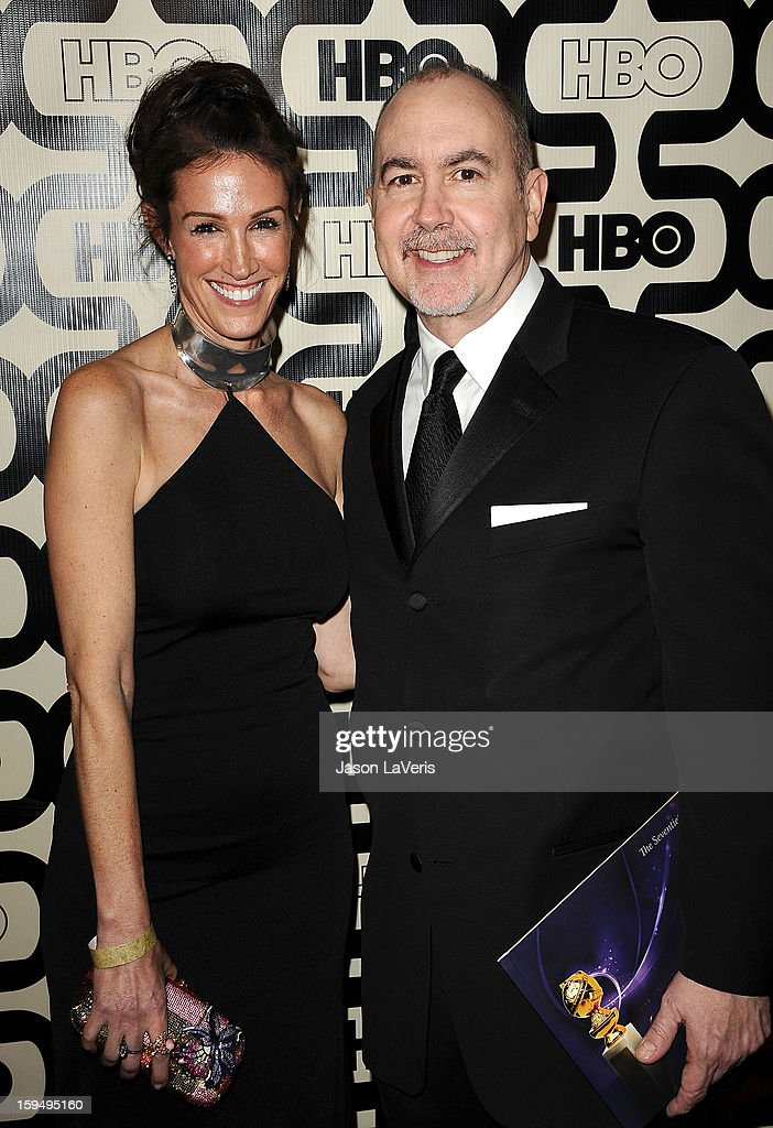 Writer/producer Terence Winter (R) and guest attend the HBO after party at the 70th annual Golden Globe Awards at Circa 55 restaurant at the Beverly Hilton Hotel on January 13, 2013 in Los Angeles, California.