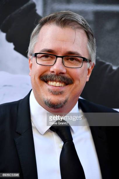 Writerproducer Vince Gilligan arrives at the AFI Life Achievement Award Gala Tribute to Diane Keaton at Dolby Theatre on June 8 2017 in Hollywood...