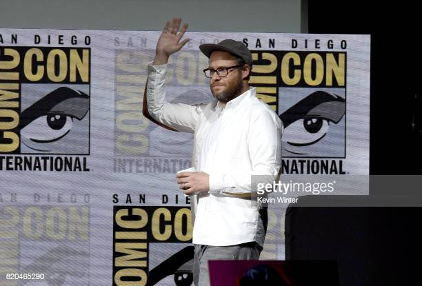 Writer/producer/director Seth Rogen walks onstage at ComicCon International 2017 AMC's 'Preacher' panel at San Diego Convention Center on July 21...