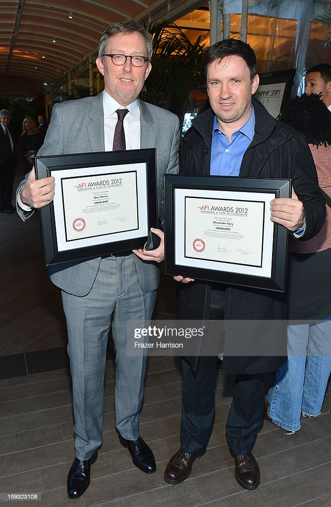 Writer/producers Alex Gansa and Alexander Cary attend the 13th Annual AFI Awards at Four Seasons Los Angeles at Beverly Hills on January 11, 2013 in Beverly Hills, California.