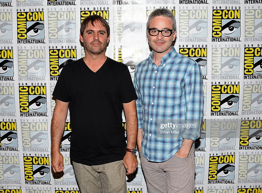 Writer/producers Alex Kurtzman (L) and <a gi-track='captionPersonalityLinkClicked' href=/galleries/search?phrase=Roberto+Orci&family=editorial&specificpeople=651307 ng-click='$event.stopPropagation()'>Roberto Orci</a> attend the 'Sleepy Hollow' press line during Comic-Con International 2013 at the Hilton San Diego Bayfront Hotel on July 19, 2013 in San Diego, California.