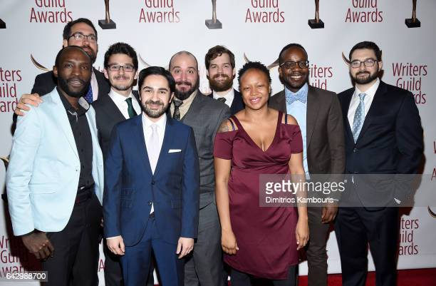 Writers and crew of 'The Daily Show' attend 69th Writers Guild Awards New York Ceremony at Edison Ballroom on February 19 2017 in New York City