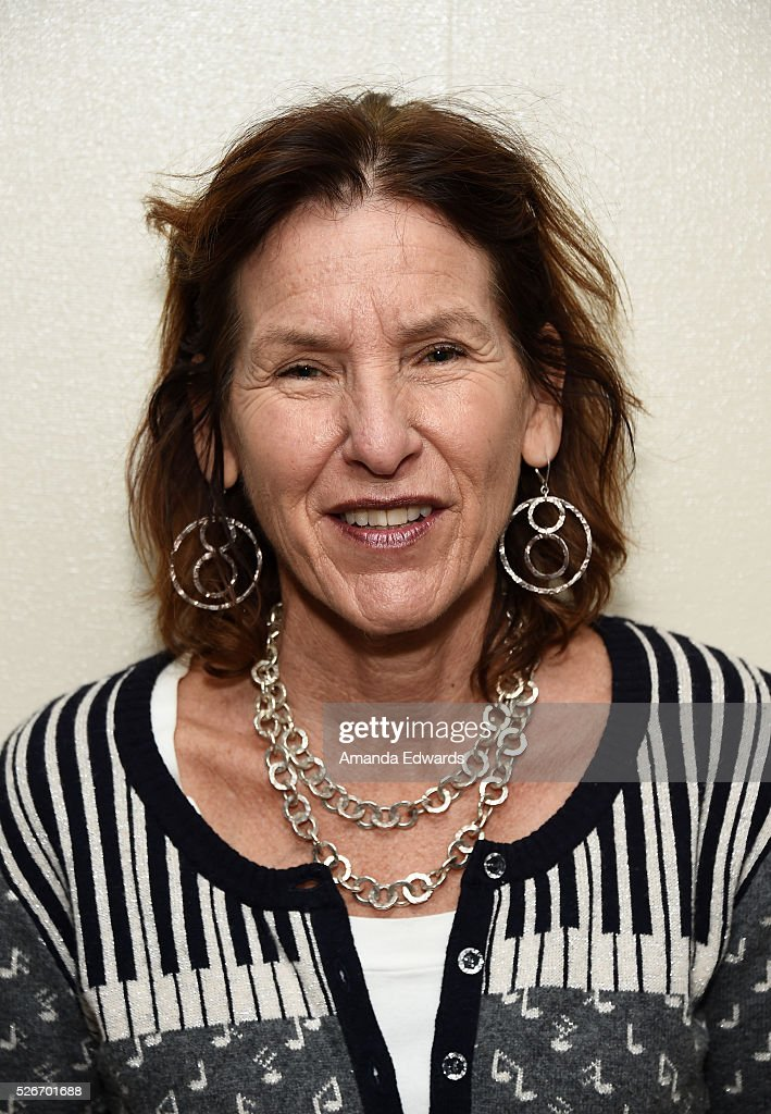 Writers Bloc Founder Andrea Grossman attends the LACMA and Writers Bloc presentation of Julian Fellowes In Conversation with Patt Morrison at the Bing Theatre at LACMA on April 30, 2016 in Los Angeles, California.