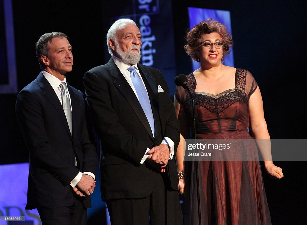 Writers David Kohan, Buz Kohan, and Jenji Kohan attend the 2012 Writers Guild Awards at the Hollywood Palladium on February 19, 2012 in Los Angeles, California.