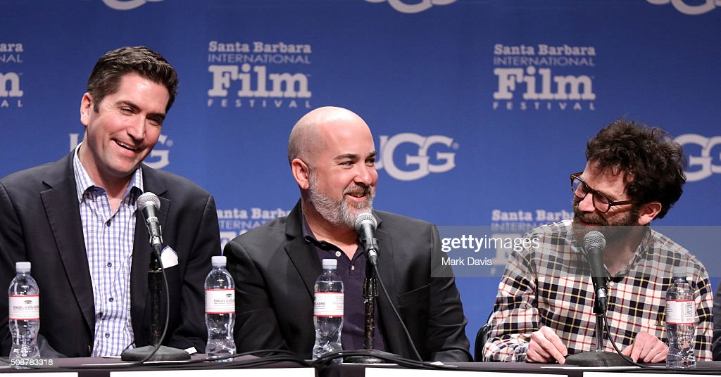 Writers <a gi-track='captionPersonalityLinkClicked' href=/galleries/search?phrase=Drew+Goddard+-+Realizador&family=editorial&specificpeople=12897935 ng-click='$event.stopPropagation()'>Drew Goddard</a>, <a gi-track='captionPersonalityLinkClicked' href=/galleries/search?phrase=Jonathan+Herman+-+Writer&family=editorial&specificpeople=15341282 ng-click='$event.stopPropagation()'>Jonathan Herman</a>, and <a gi-track='captionPersonalityLinkClicked' href=/galleries/search?phrase=Charlie+Kaufman&family=editorial&specificpeople=217701 ng-click='$event.stopPropagation()'>Charlie Kaufman</a> speak at the Writer's Panel at the Lobero, at the 31th Santa Barbara International Film Festival on February 6, 2016 in Santa Barbara, California.