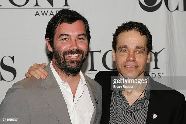 Writers Dunken Sheik and Steven Sater attend the 2007 Tony Awards nominees press reception at the Marriott Marquis on May 16 2007 in New York City