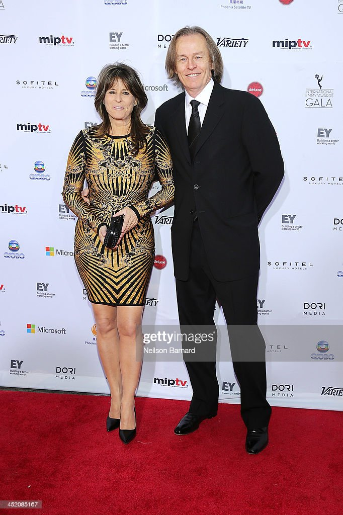 Writers Fabienne Larouche and Michel Trudeau attend the 41st International Emmy Awards at the Hilton New York on November 25, 2013 in New York City.