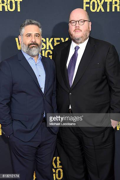 Writers Glenn Ficarra and John Requa attend the 'Whiskey Tango Foxtrot' world premiere at AMC Loews Lincoln Square 13 theater on March 1 2016 in New...