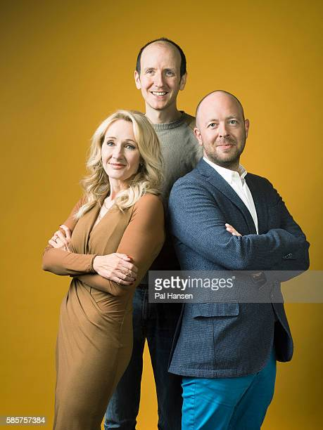 Writers JK Rowling Jack Thorne and John Tiffany are photographed for the Observer on June 5 2016 in London England