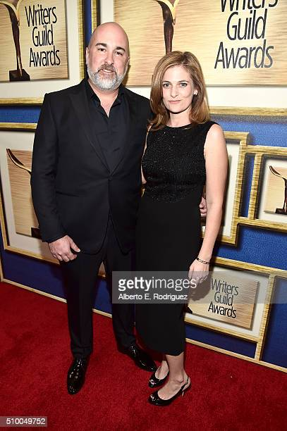 Writers Jonathan Herman and Andrea Berloff attend the 2016 Writers Guild Awards at the Hyatt Regency Century Plaza on February 13 2016 in Los Angeles...