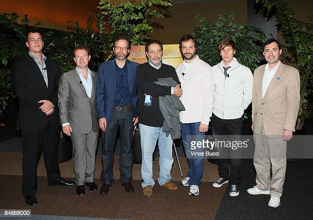 Writers Jonathan Nolan Simon Beaufoy Tom McCarthy Eric Roth moderator Judd Apatow writer Dustin Lance Black and WGA West President Patric M Varrone...