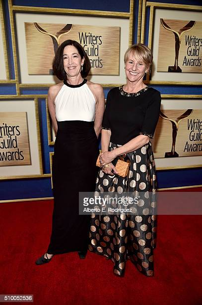 Writers Josann McGibbon and Sara Parriott attend the 2016 Writers Guild Awards at the Hyatt Regency Century Plaza on February 13 2016 in Los Angeles...