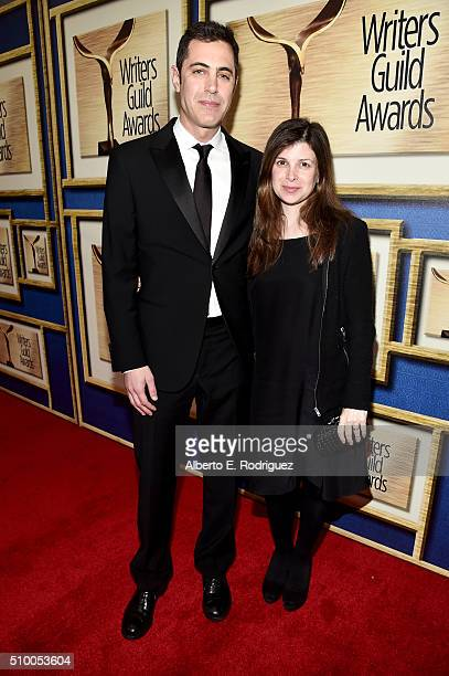 Writers Josh Singer and Laura Dave attend the 2016 Writers Guild Awards at the Hyatt Regency Century Plaza on February 13 2016 in Los Angeles...