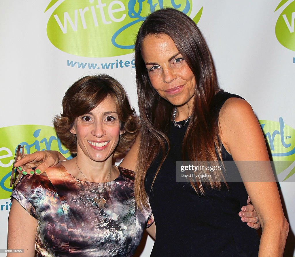 Writers Kami Garcia (L) and Margaret Stohl attend the Bold Ink Awards at the Eli and Edythe Broad Stage on November 5, 2012 in Santa Monica, California.