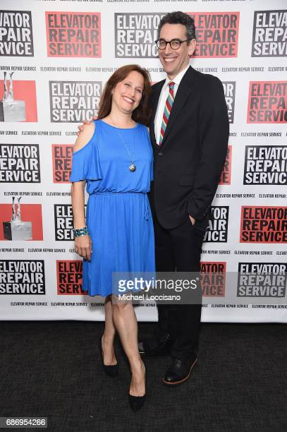 Writers Katherine Profeta and Steve Bodow attend the Elevator Repair Service Theater 25th Anniversary Gala at Tribeca Rooftop on May 22 2017 in New...