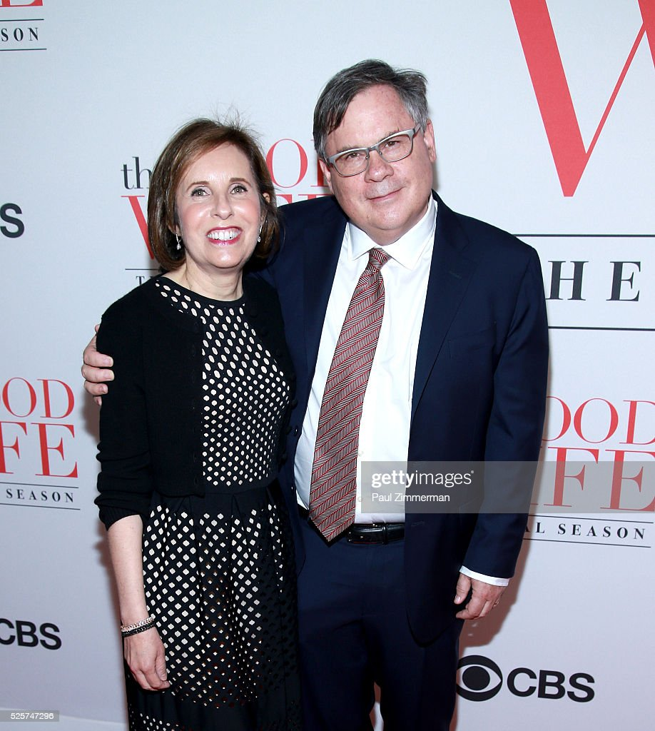 Writers Michelle King and Robert King attend 'The Good Wife' Finale Party at Museum of Modern Art on April 28 2016 in New York City
