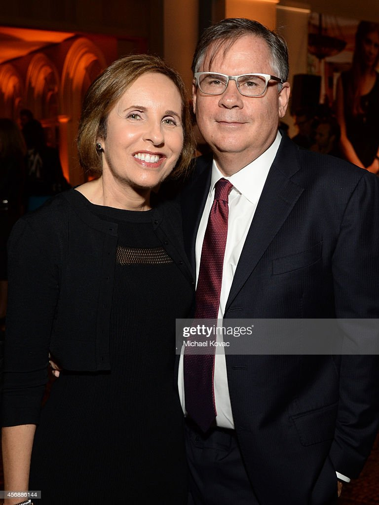 Writers Michelle King and Robert King attend the Vanity Fair New Establishment Summit Cockatil Party on October 8 2014 in San Francisco California