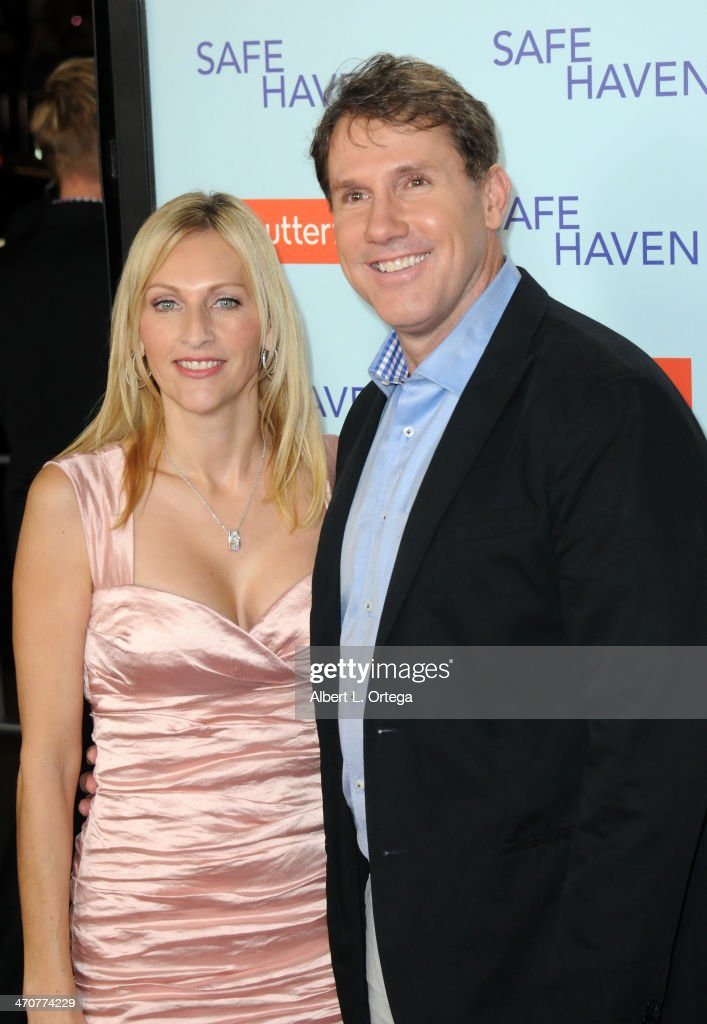 Writers <a gi-track='captionPersonalityLinkClicked' href=/galleries/search?phrase=Nicholas+Sparks&family=editorial&specificpeople=1057500 ng-click='$event.stopPropagation()'>Nicholas Sparks</a> and wife Cathy arrive for the Premiere Of Relativity Media's 'Safe Haven' held at The TCL Chinese Theater on February 5, 2013 in Hollywood, California.