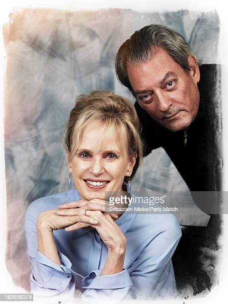 Writers Paul Auster and Siri Hustvedt are photographed for Paris Match on February 14 2013 in New York City