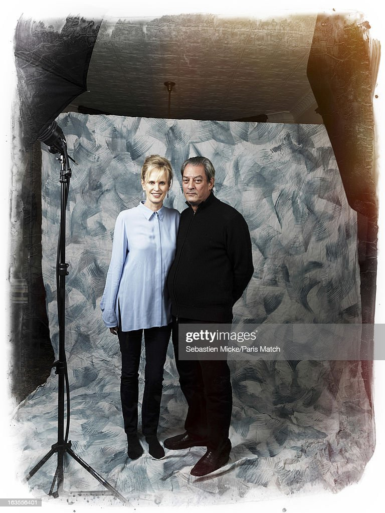 Paul Auster & Siri Hustvedt,  Paris Match, Issue 3328