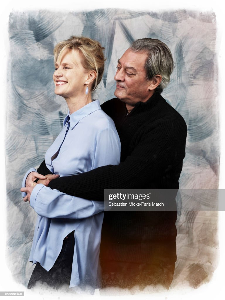 Writers Paul Auster and Siri Hustvedt are photographed for Paris Match on February 14, 2013 in New York City.