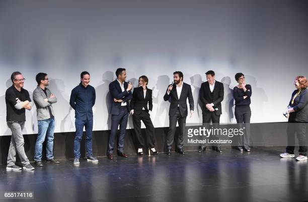 Writers Paul Wernick and Rhett Reese Director Daniel Espinosa actors Ryan Reynolds Rebecca Ferguson and Jake Gyllenhaal producers David Ellison and...
