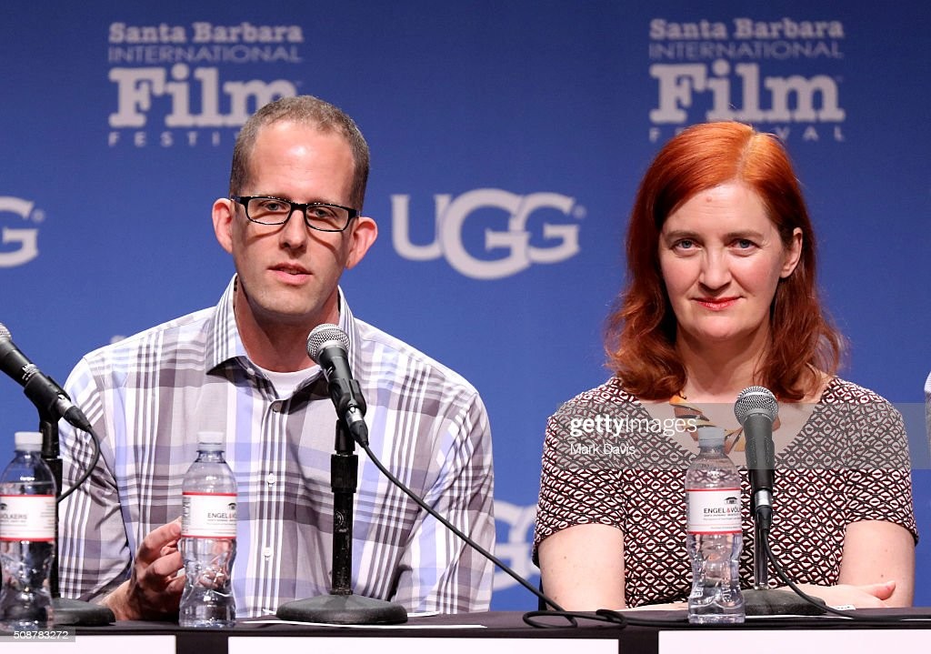 Writers <a gi-track='captionPersonalityLinkClicked' href=/galleries/search?phrase=Pete+Docter&family=editorial&specificpeople=3014517 ng-click='$event.stopPropagation()'>Pete Docter</a> and <a gi-track='captionPersonalityLinkClicked' href=/galleries/search?phrase=Emma+Donoghue&family=editorial&specificpeople=7174863 ng-click='$event.stopPropagation()'>Emma Donoghue</a> speak at the Writer's Panel at the Lobero, at the 31th Santa Barbara International Film Festival on February 6, 2016 in Santa Barbara, California.