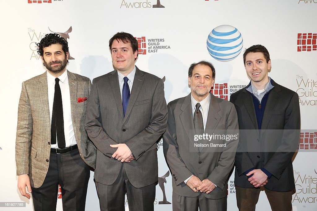 Writers Rob Dubbin, Michael Brumm, and guests attend the 65th annual Writers Guild East Coast Awards at B.B. King Blues Club & Grill on February 17, 2013 in New York City.