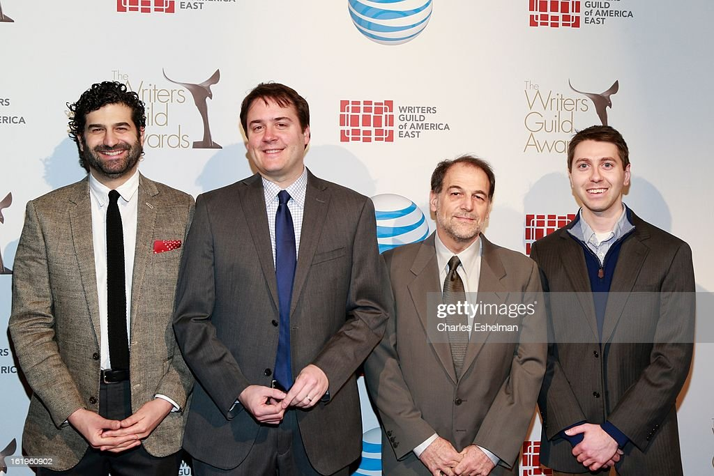 Writers Rob Dubbin, Michael Brumm and guests attends the 65th Annual Writers Guild East Coast Awards at B.B. King Blues Club & Grill on February 17, 2013 in New York City.